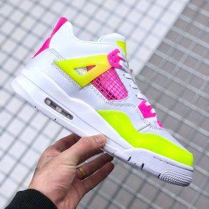 "Air Jordan 4 GS ""Lemon Venom"" colorful candy"